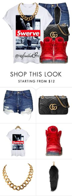 """Swerve!"" by spoiledg16 ❤ liked on Polyvore featuring Topshop, Gucci, Retrò, NIKE, INC International Concepts and Michael Kors"