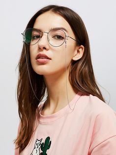 To find out about the Detachable Glasses Chain at SHEIN, part of our latest Sunglasses ready to shop online today! Glasses Outfit, Cute Glasses, Glasses Frames, Latest Sunglasses, Round Sunglasses, Sunglasses Women, Womens Glasses, Online Fashion Stores, Reading Glasses