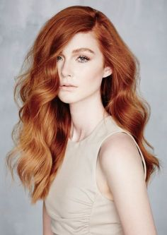 copper hair.. with deep side part