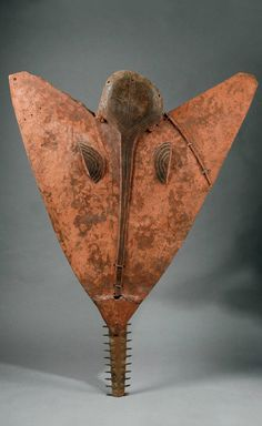 Africa | Swordfish mask from the Bidjogo people of Guinea Bissau | Wood, metal and pigment