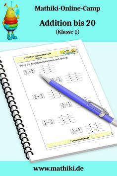 Baue aus den gegebenen Zahlen vier Additionsaufgaben und löse sie. Alle Arbeitsblätter sind mit Lösungen. #Addition #Klasse1 #Mathe #Schule #Arbeitsblatt #Mathiki #MathikiOnlineCamp #grade1 #math #school #worksheet #download Mathematics, Numbers, First Grade, Primary School