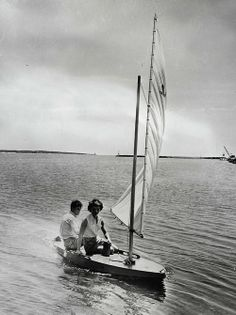 Jack and Jackie sailing in Hyannis Port during the Summer of 53