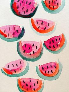 watermelon water colors...by Jcold  buy print: https://society6.com/product/melon-4v8_print#s6-3242949p4a1v45