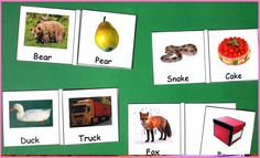 Rhyming Words Matching Activity For more rtesources follow https://www.pinterest.com/angelajuvic/autism-special-education-resources-angie-s-tpt-sto/