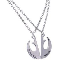Star Wars I Love You, I Know Couple's Necklace