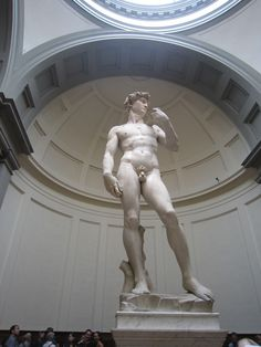 Il David de Michelangelo, Galería dell'Accademia, Firenze