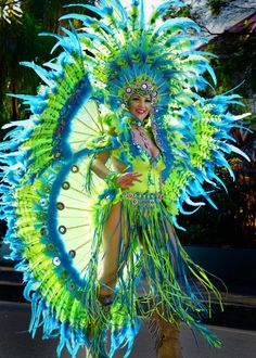 Sun Dancer - Trinidad's Carnival brings the islands most beautiful women to the streets to display their colourful and exotic costumes. It is an event like none other