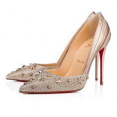535b898bb669 Christian Louboutin Greece Official Online Boutique - Wonder Pump Glitter  Diams Nappa Silk 100 Colombe Glitter available online. Discover more Women  Shoes ...