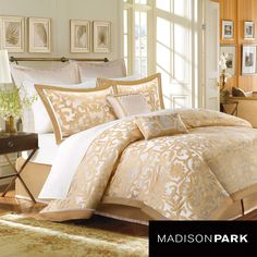Madison Park Signature Carmichael 8-piece Charmeuse Comforter Set | Overstock.com Shopping - Great Deals on Madison Park Comforter Sets