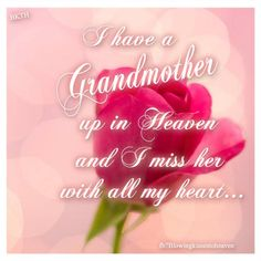 missing my grandmother