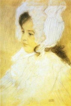 Portrait of a Girl - Gustav Klimt