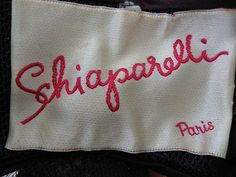 #Schiaparelli's signature in three different ways