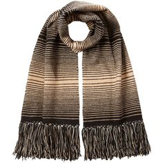 Missoni Wool Striped Knit Scarf (13.085 RUB) ❤ liked on Polyvore featuring accessories, scarves, multicolored, missoni shawl, fringe shawl, long scarves, missoni and knit scarves