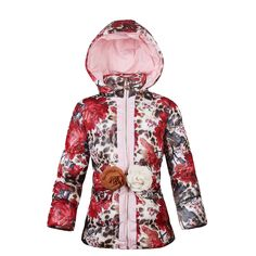 Find More Down & Parkas Information about Baby Girls Winter Zipper Jacket 2016 New Fashion Belt Cotton Coat for 3 8 Years Kids Print Clothes Girls Floral Thick Outerwear,High Quality coats guess,China belt pouch Suppliers, Cheap belts auto from Kids European Fashion  Store on Aliexpress.com