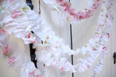 ruffles, ruffles, ruffles - so cute! Just string them up and casually drape
