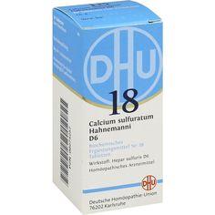 BIOCHEMIE DHU Schüssler Salz 18 Calcium sulfuratum D6 Tabletten: Schüssler Salz Nr.18  Packungsinhalt: 80 St Tabletten PZN: 00275257…