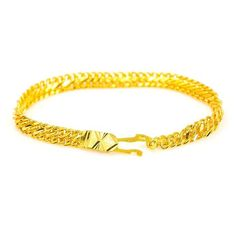 Gold Chains For Men - Yellow Gold Bracelet W/ Textured Chain Mens Gold Jewelry, Gold Jewellery Design, Gold Chains For Men, Jewelry Photography, Bracelets For Men, Amen Ra, Diwali 2018, Chain Jewelry, Dubai