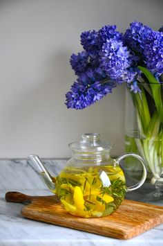 Canarino Tea by kitchenculinaire: Meyer lemon peel and rosemary tisane. #Tea