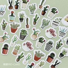Never go back to boring plain stickers. Use these Lifelog Cactus Stickers to create a wonderful art creation and DIY scrapbooking! Includes: 45 stickers Size: x v Cactus Stickers, Diy Stickers, Scrapbook Stickers, Laptop Stickers, Planner Stickers, Stickers Kawaii, Label Stickers, Notebook Stickers, Printable Stickers