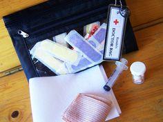 Homemade doctor play kit.