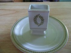 Vintage match holder and ashtray is great for storing a box of matches to light your candles