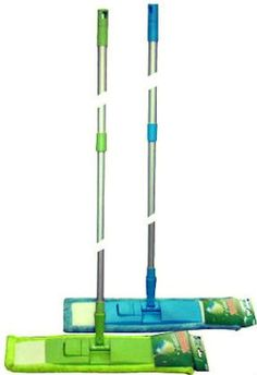 And as my old green mop-system broke last year, I just decided to buy this one. Hope the old green mops I still have, fit on this new one, too. Anybody in need of the blue one, that comes along with the green? Don't wanna keep it. It's blue. ;)