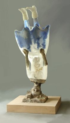 Christina Bothwell  ,  Butterflies  -  cast glass, found object, raku fired clay, and oil paints  38 x 34 x 34 inches   (Wow again)