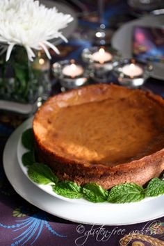 Gluten-Free Vegan Pumpkin Cheesecake.