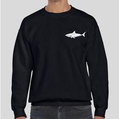 Great White Shark   Quote Slogan Illustration Personalised Unisex, Tumblr, Blog Fashion Drawing Funny, Hipster, Joke, Gift, Sweater, Sweatshirt, Hoodie, Hooded, Top Men Women Ladies Boy Girl