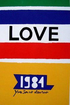 CARTE DE VOEUX - LOVE YVES SAINT LAURENT - 1981