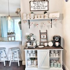 """444 Likes, 35 Comments - Brianna Dubinsky (@diyinspiredhouse) on Instagram: """"I'm having so much fun setting up my little coffee station I never thought I would ever own this…"""""""
