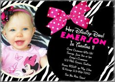 Minnie Mouse birthday invitation Printable file by planBdsigns, $15.00