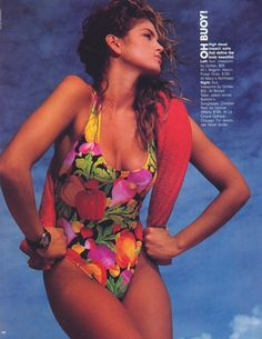 Cindy Crawford US Elle January 1989 by Gilles Bensimon