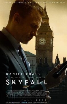 Daniel Craig in SKYFALL. This is a great version of the poster!