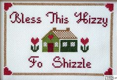 I love when something as boring as cross stitch comes to life with modern phrases of hilarity! @Kelley Beck