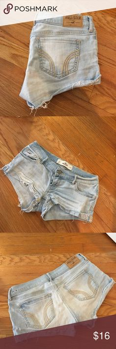 Light Blue Hollister Jean Shorts Staple piece for the summer!! So comfy and stylish, great condition Hollister Shorts Jean Shorts