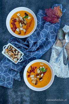 Krem z dyni i batatów - DusiowaKuchnia.pl Chana Masala, Ethnic Recipes, Food, Hokkaido, Hoods, Meals