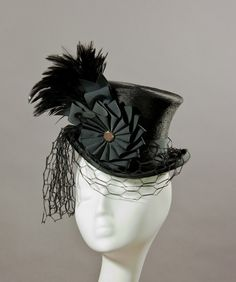 Black Beauty 'Belle Epoch' Mini Top Hat by HouseofNinesDesign, $425.00