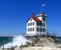 Lorain lighthouse, Lorain, Ohio.