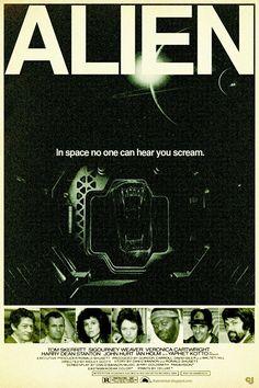 72234b9cac754a Original ALIEN Poster Alien Movie Poster
