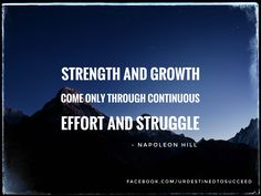 There is no growth without action.