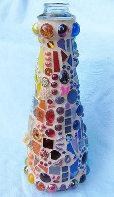Mosaic Rainbow Bottle   Flickr - Photo Sharing!