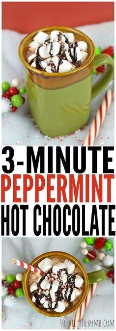 3-Minute Peppermint Hot Chocolate