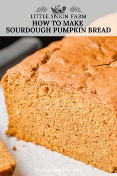 You're going to love this easy, sourdough pumpkin bread recipe! It's moist and full of your favorite fall flavors! Sourdough Starter Discard Recipe, Bread Starter, Sourdough Recipes, Quick Bread Recipes, Sourdough Bread, Baking Recipes, Starter Recipes, Pumpkin Bread, Pumpkin Puree