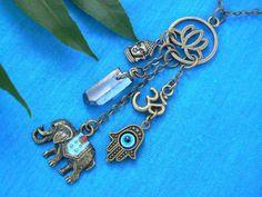 spiritual necklace zen necklace protection by gildedingypsy