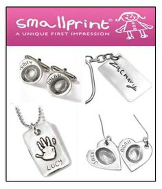 SMALLPRINT VISIT IN STORE (CHELMSFORD) 26TH JULY 2014!!!  Capture a precious moment in time with a unique item of jewellery hand-crafted in fine silver from Smallprint. On the 26th July 2014 Smallprint Fingerprint Jewellery UK will be paying us a visit here at Sarah Beth Jewellers Chelmsford, ready to take your orders (and fingerprints) in person!  If you would like an appointment made, please feel free to contact us via email (sbjewellers@aol.com).