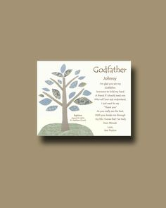Godfather gift Personalized gift for Godfather by BoutiqueBlu, $10.00