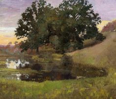 Hillside Pool 1900 painting Arthur Wesley Dow | Oil Painting Reproduction