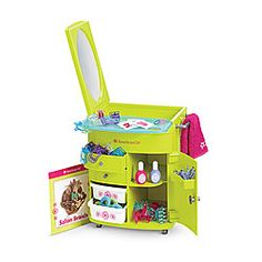 American Girl® Accessories: Salon Center - $49.00 - This would actually be very helpful; if you saw my doll bathroom, you'd understand.