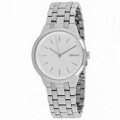 DKNY Womens Park Slope Quartz Silver Band Silver Dial